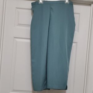 Alfred Dunner aquamarine cropped pants